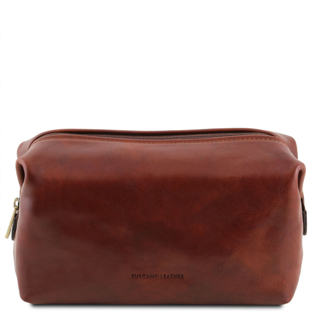 Smarty - Leather toilet bag - Large size (TL141219) - Travel leather accessories | DILUSSOBAGS
