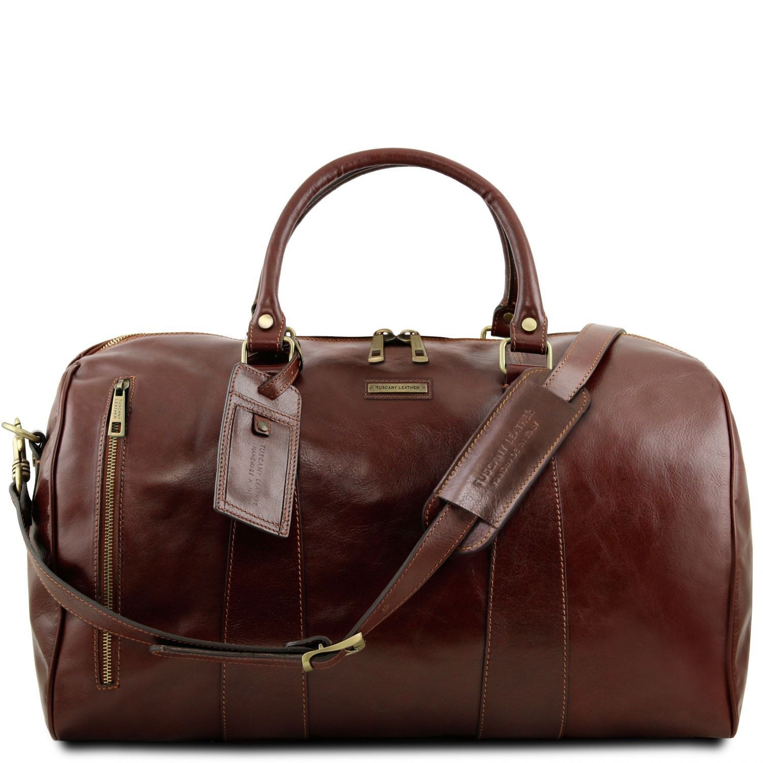 TL Voyager - Travel leather duffle bag - Large size (TL141794) - Leather Travel bags | DILUSSOBAGS
