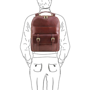 Nagoya - Leather laptop backpack (TL141857) - Leather Backpacks | DILUSSOBAGS