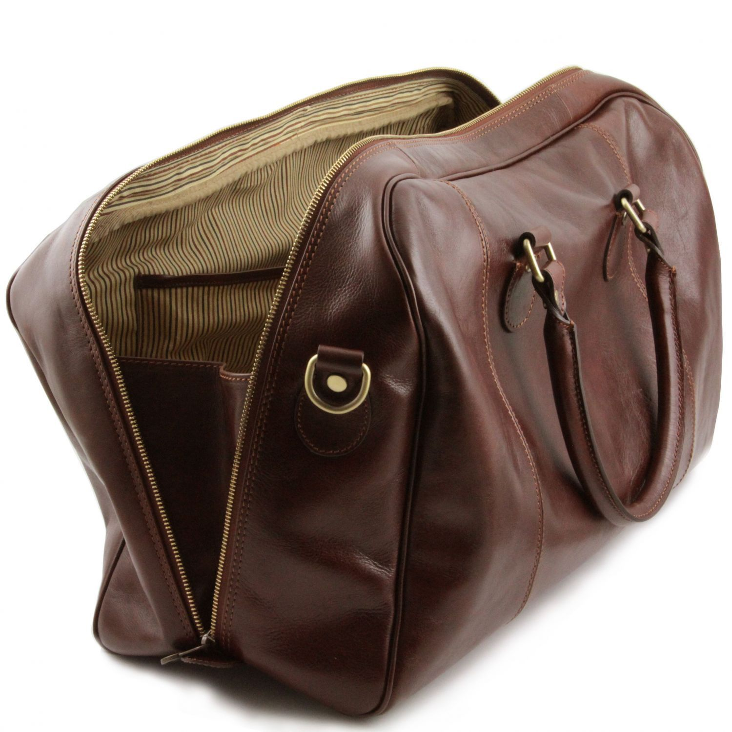 TL Voyager - Travel leather duffle bag (TL141218) - Leather Travel bags | DILUSSOBAGS