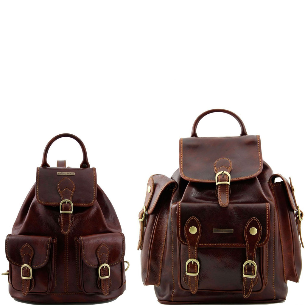 Trekker - Travel set Leather backpacks (TL90173) - Leather travel sets | DILUSSOBAGS