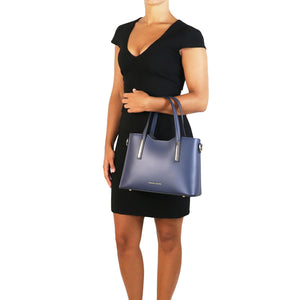 Olimpia - Leather tote - Small size (TL141521) - Leather handbags | DILUSSOBAGS