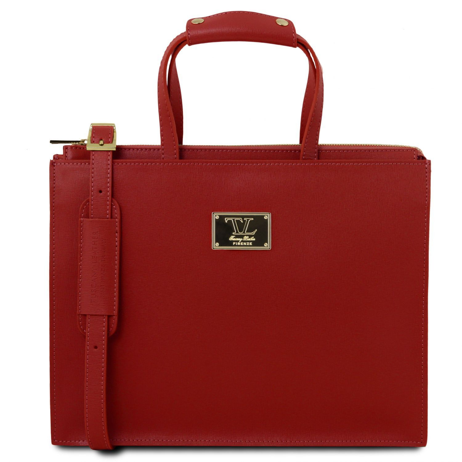 Palermo - Saffiano Leather briefcase 3 compartments for women (TL141369) - Leather briefcases | DILUSSOBAGS