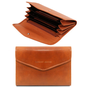Exclusive leather accordion wallet (TL140786) - Leather wallets for women | DILUSSOBAGS