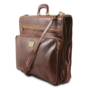 Papeete - Garment leather bag (TL3056) - Leather garment bags | DILUSSOBAGS
