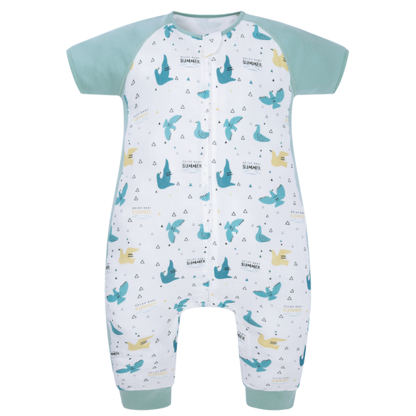 Sleeping Suit/ Short sleeve - Summer Birds 0.6 TOG