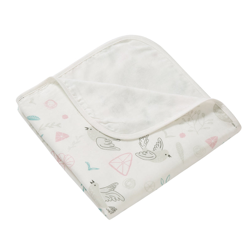 4 Layer Muslin Blanket - Cheerful Birds