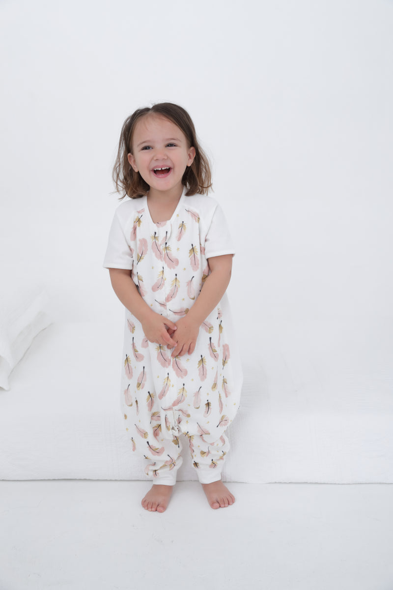 Sleeping Suit / Short sleeve- Feather Dream 0.6 TOG