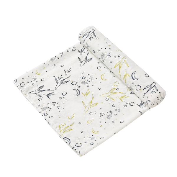2 Layer Muslin Blanket - Flying Fish / Light Grey Lilly - come in a 2 Pack