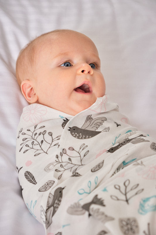 2 Layer Muslin Blanket - Cheerful Birds - come in a 2 Pack