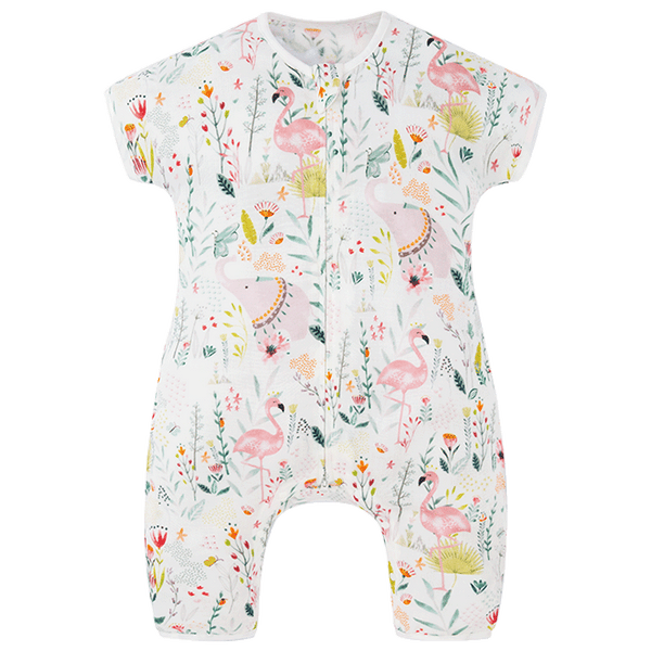 Sleeping Suit / Short sleeve - Flamingo 0.23 TOG