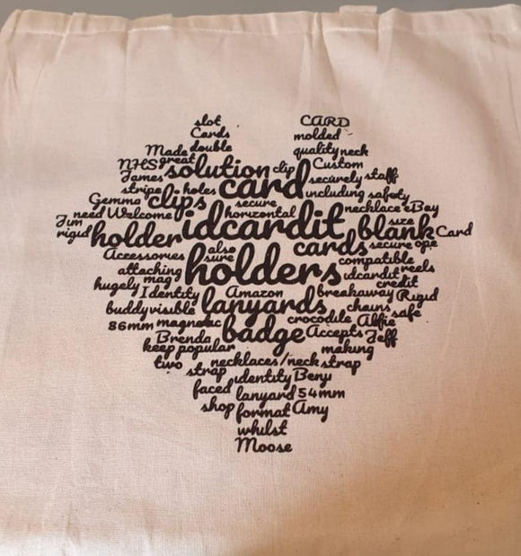 Word Cloud Canvas Bag