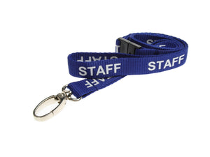 Blue STAFF Lanyard with metal clip