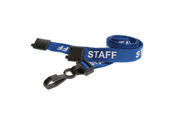 Blue STAFF Lanyard with plastic clip