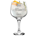 Gorgeous Handmade Gin Glass Engraving for Mum