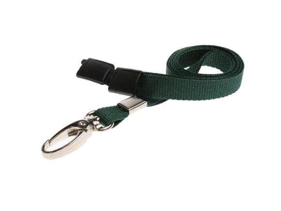 Green Lanyard with Lobster Clip