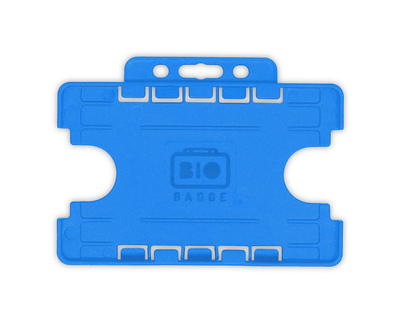 Blue Biodegradable Double ID Card Holder