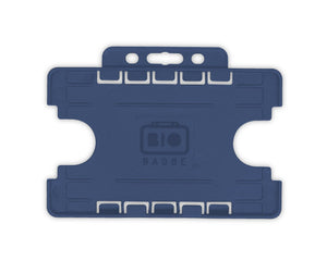 Navy Blue Double ID Card Badge Holder