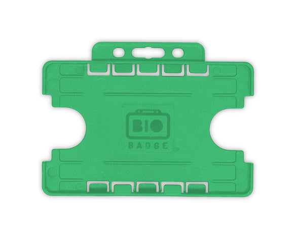 Green Double ID Card Badge Holder