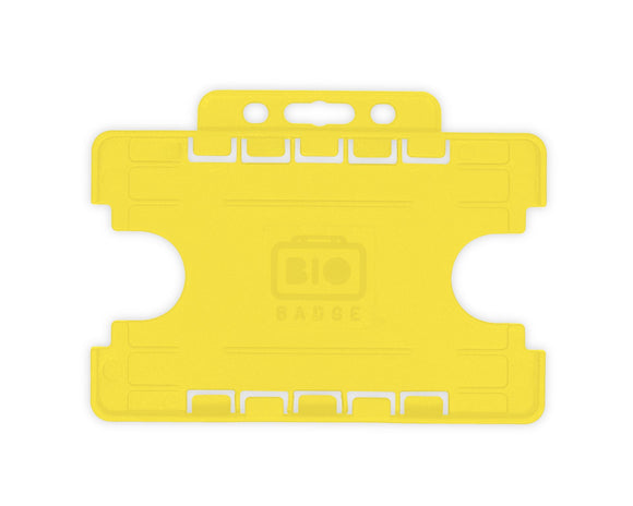 Yellow Double ID Card Badge Holder