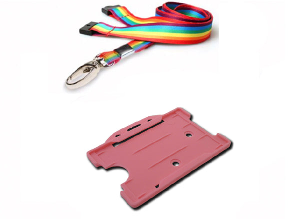 Rainbow Lanyard and Holder