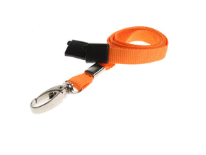 Orange Lanyard with Lobster Clip