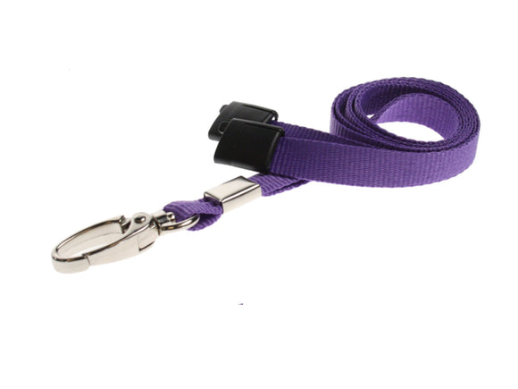 Purple Lanyard with Lobster Clip