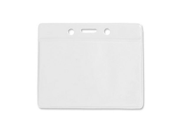 Horizontal Plastic Pocket Wallet PVC ID Card Holder