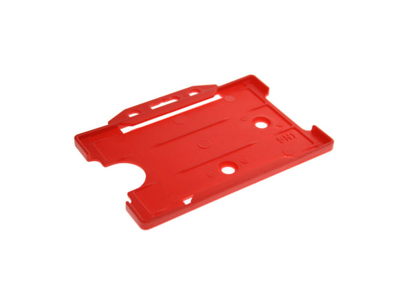 Red Single Sided Biodegradable ID Card Holder