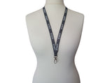 Grey Staff Lanyard with Metal Lobster Clip