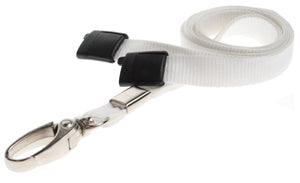White Lanyard with Lobster Clip