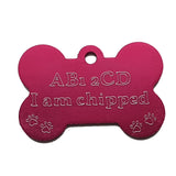 Engraved dog tags in a variety of colours