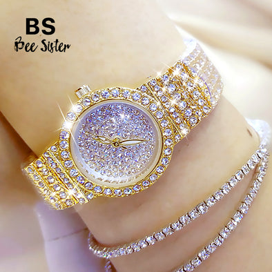 Bee Sister - Diamond Small Women's Quartz Watch (with a ins Bracelet as gift)
