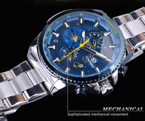 Forsining - 3 Dial Calendar Display Automatic Mechanical Wrist Watch