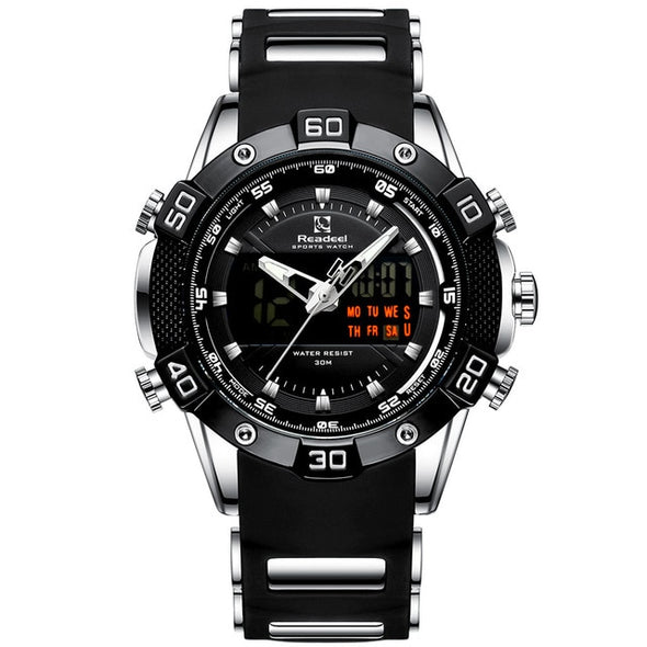 Readeel - LED Digital Display Chronograph Waterproof Quartz Watch