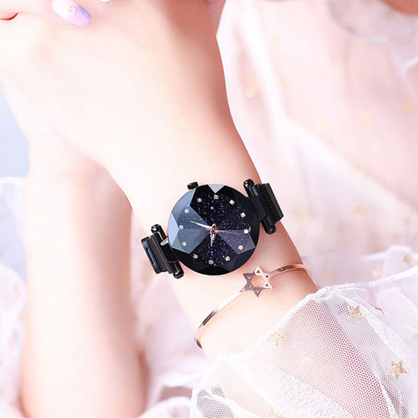 Jollynova - Magnet Starry Sky Women Quartz Watch
