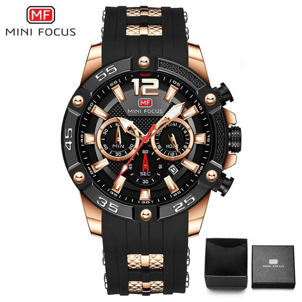 MINI FOCUS - Big Dial Chronograph Quartz Watch