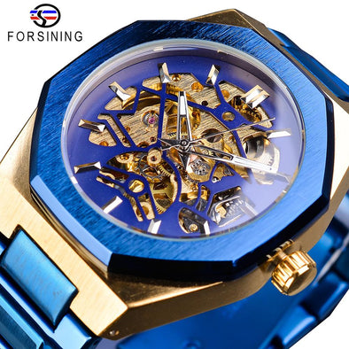 Forsining - Stainless Steel Waterproof Automatic Mechanical Watch
