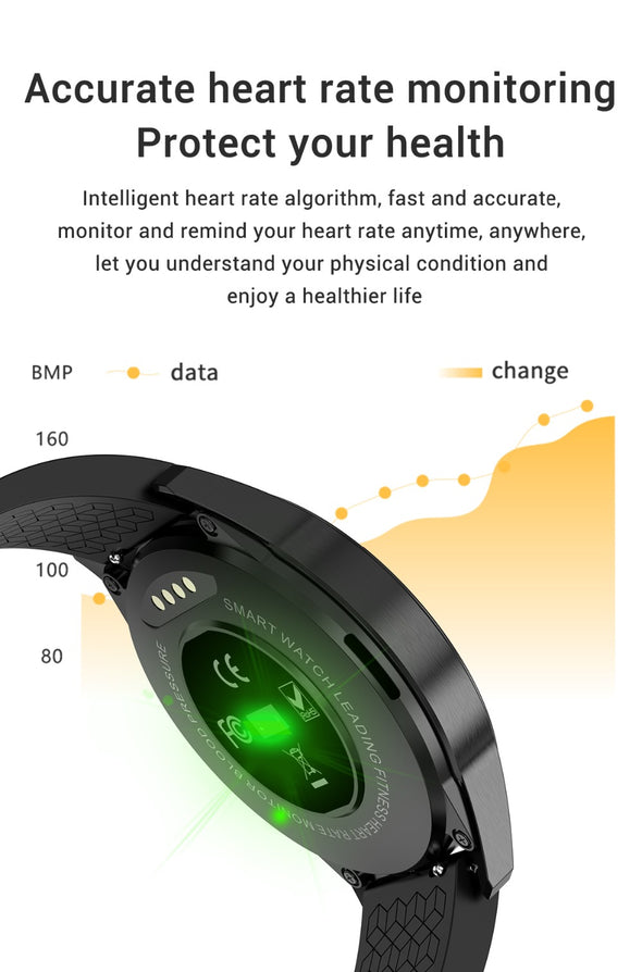 Jollynova -G20 Bluetooth Call Blood Pressure  Fitness Tracker Waterproof Smart Watch