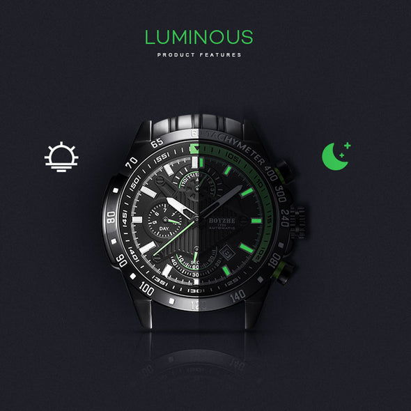 Jollynova Warrior Light - WL010 Automatic Mechanical Multi-function Waterproof Luminous Watch
