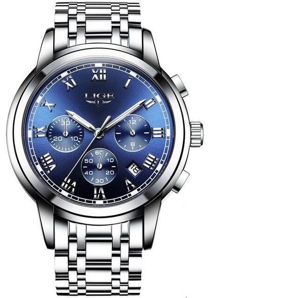 LG9810B -  Sport Chronograph Waterproof Full Steel Quartz Watch
