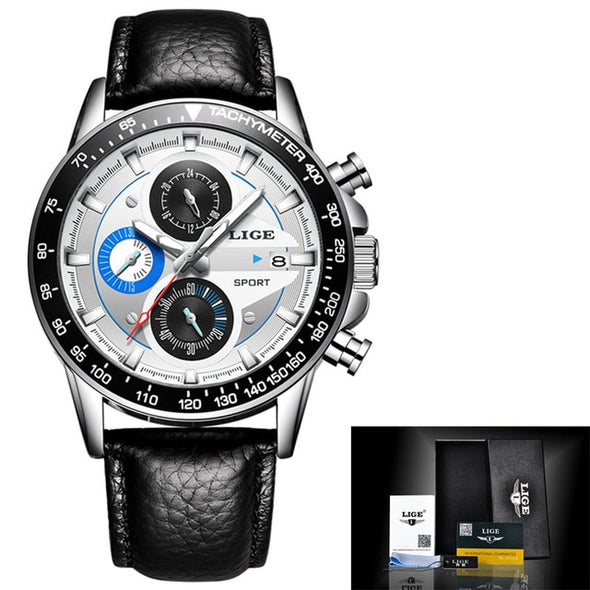 LIGE - Top Brand Luxury Waterproof Chronograph Watch