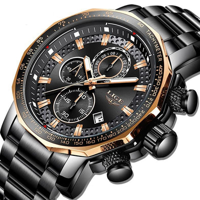 LG9902 - Luxury Full Steel Sport Chronograph Quartz Watch