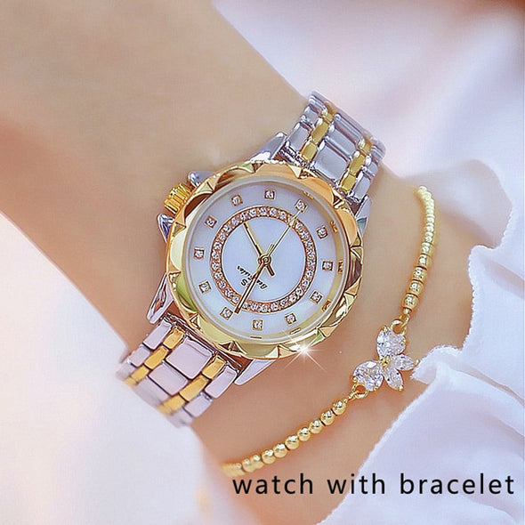 Bee Sister - Diamond Women's Quartz Watch (with a ins Bracelet as gift)