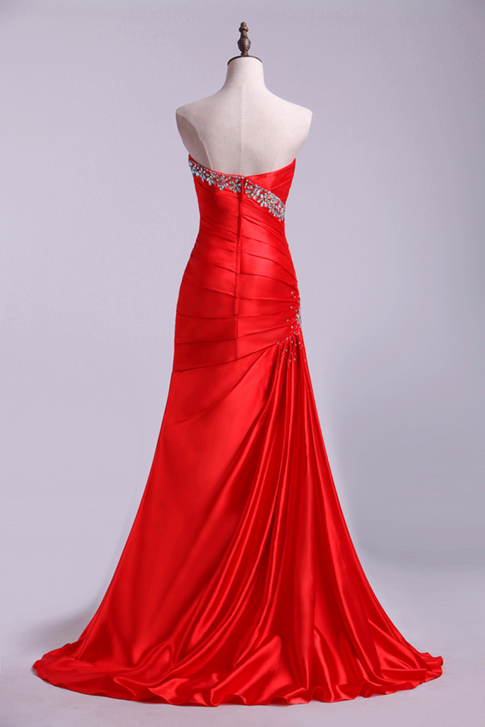 2019 Prom Dresses Trumpet Sleeveless Sweetheart With