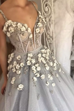 2019 Ball Gown Spaghetti Straps Quinceanera Dresses With Handmade Flowers