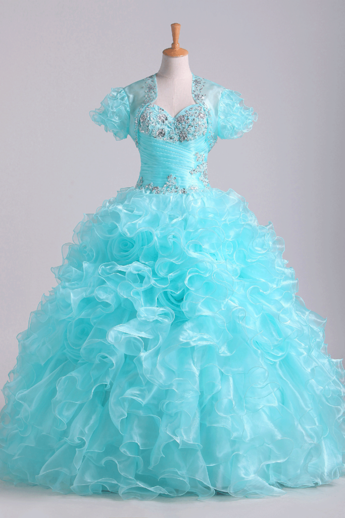 2019 Quinceanera Dresses Fabulous Sweetheart Ruffled Bodice Floor