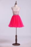 2019 Sweetheart Homecoming Dresses A-Line Beaded Bodice