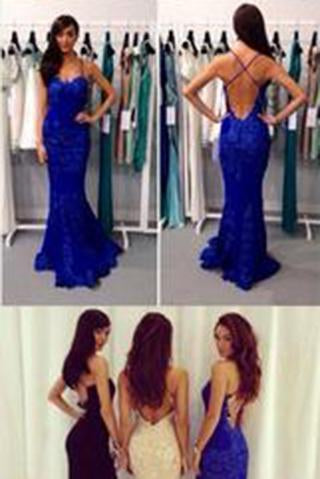 Black Prom Dresses Mermaid Prom Dress Lace Prom Dress Backless Evening Gowns
