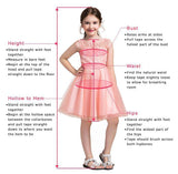 A Line Pink Princess Scoop Neck Short Sleeves Bowknot Lace Appliques Flower Girl Dresses